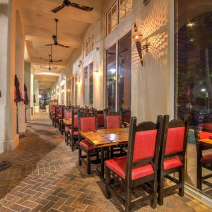 Our outdoor seating along the intracoastal