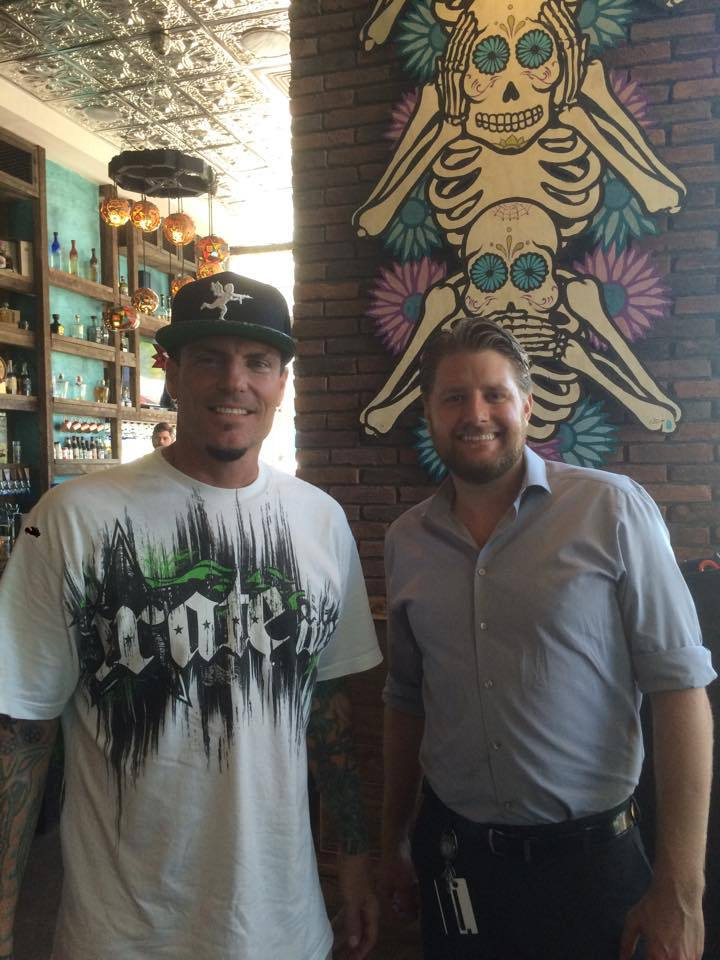Vanilla Ice at Calaveras Cantina